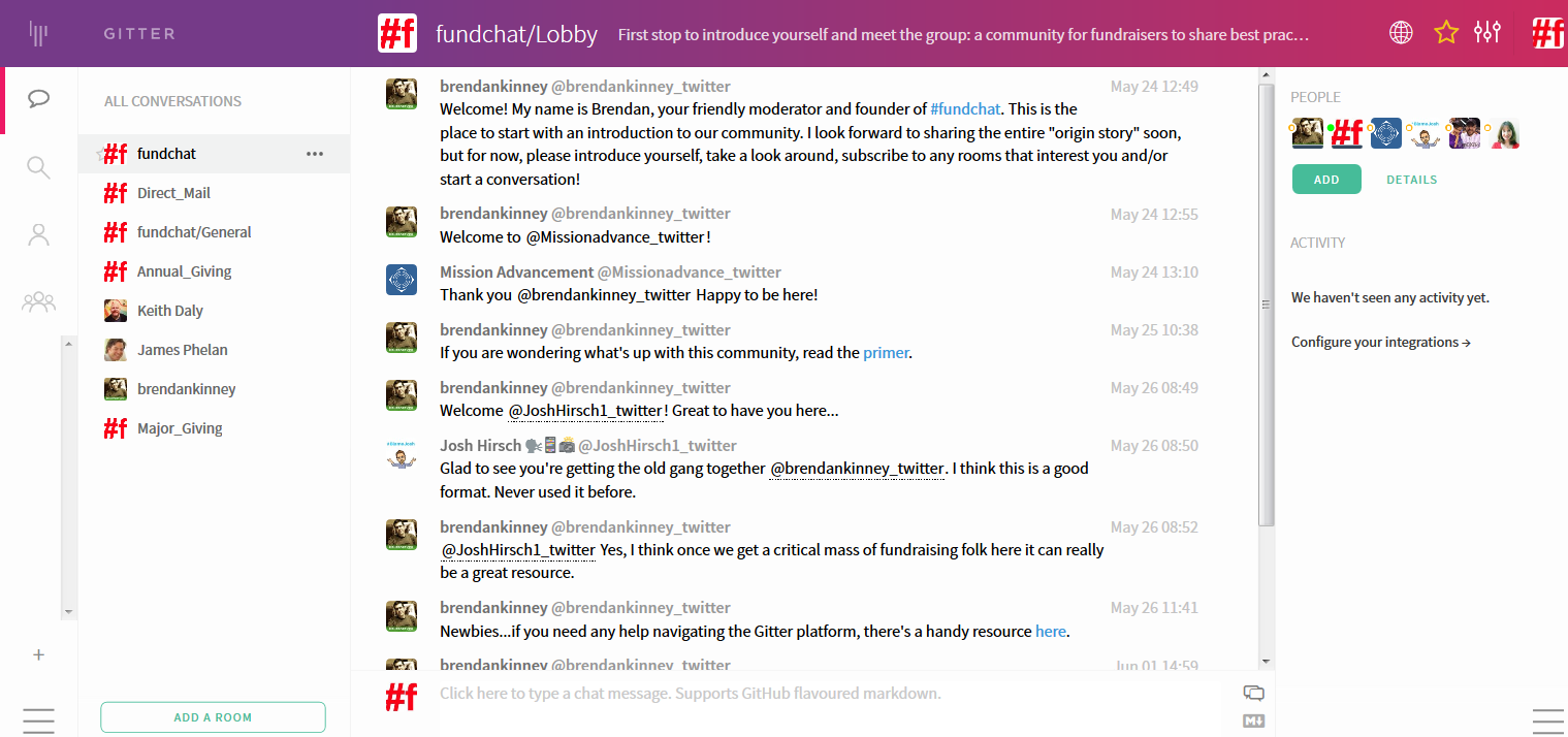 fundchat on Gitter